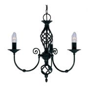 Zanzibar 3 Light Fitting in a Black Finish - SEARCHLIGHT 3379-3